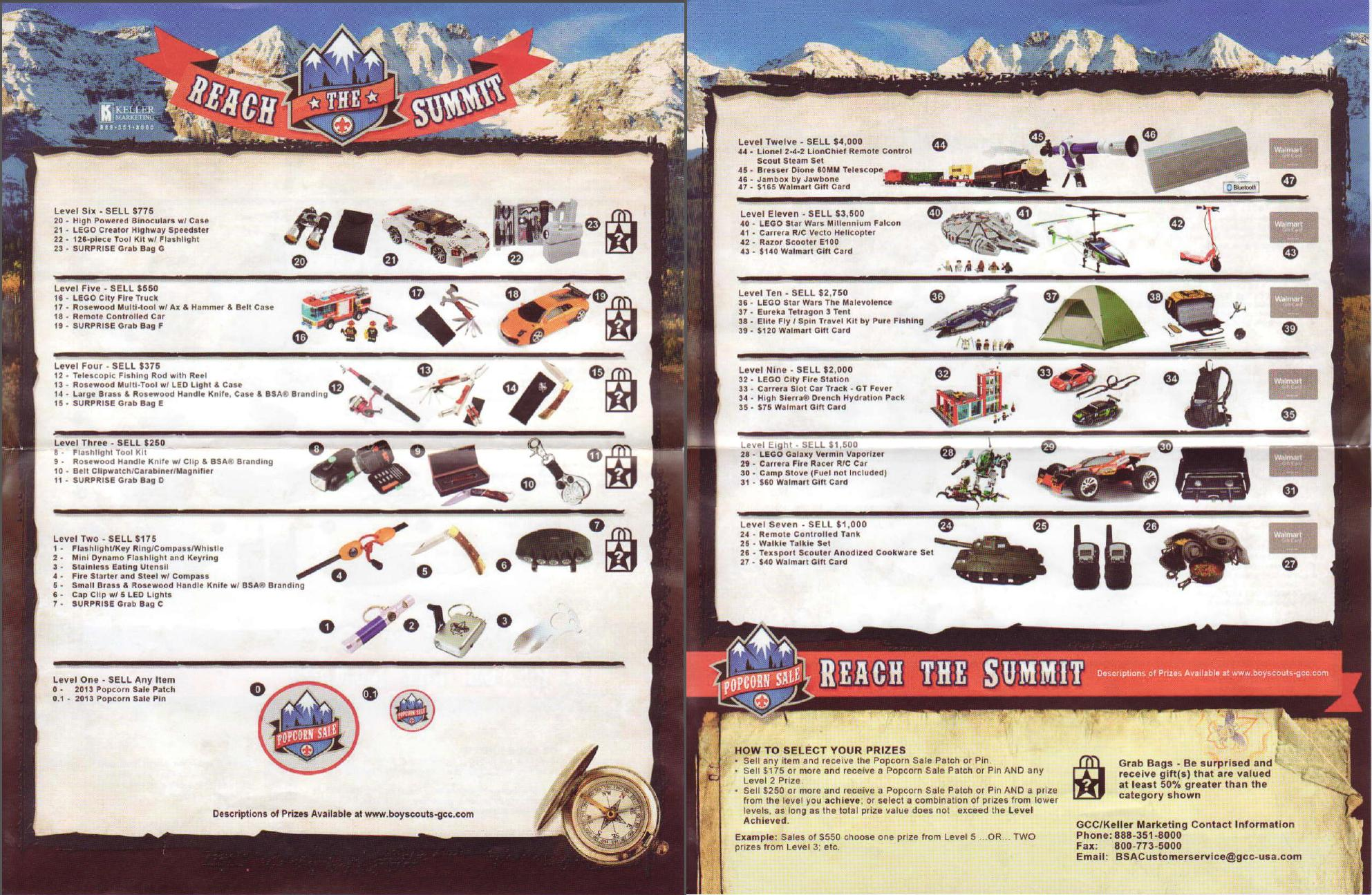 Why can't I find everything I saw in the Boy Scout catalog?